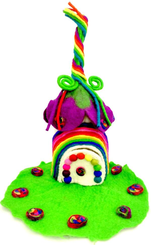 rainbow fairy home felt