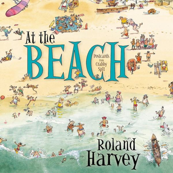 at the beach postcards from crabby spit roland harvey