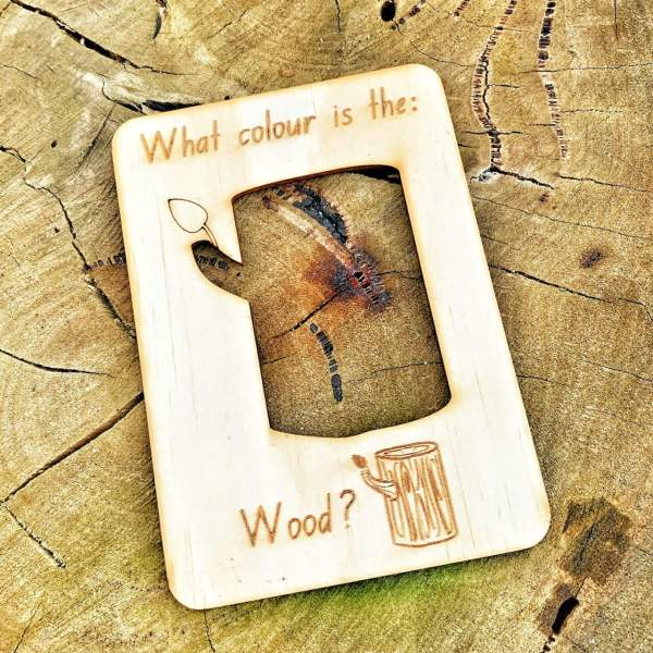natural wood flash cards