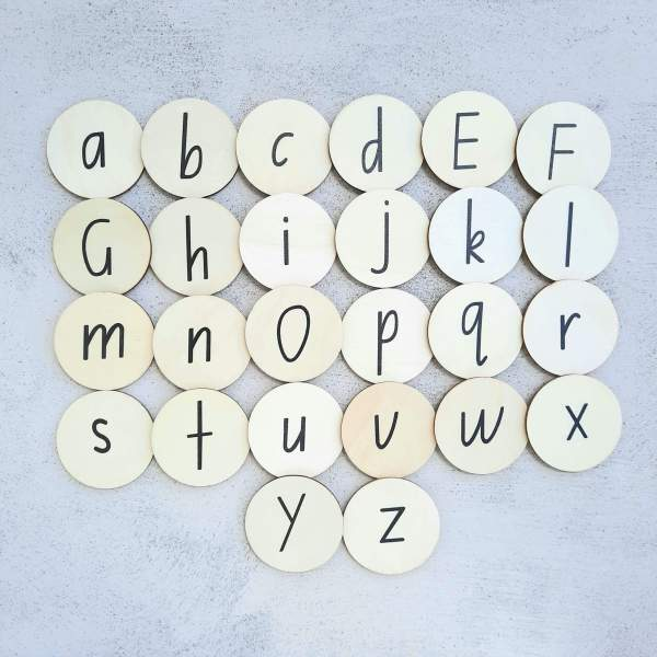 alphabet 2 sided capital lowercase26 set