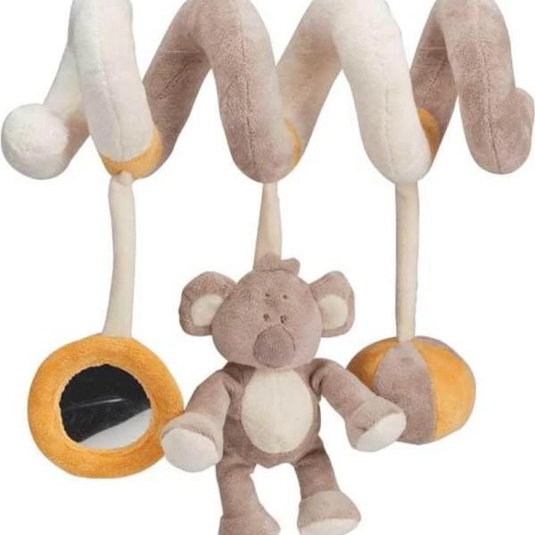 spiral pram toy baby koala