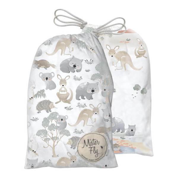 australiana bassinet sheet set mister fly