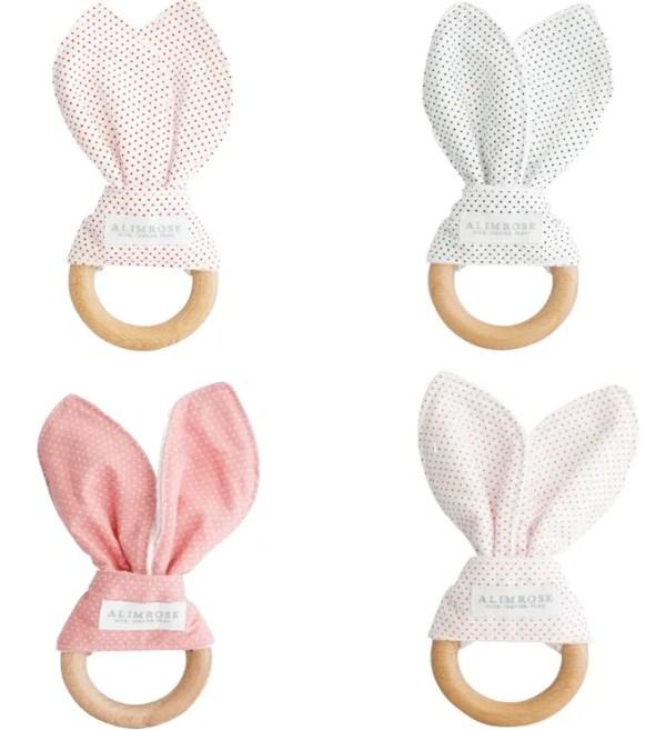 4 alimrose bunny ear teethers