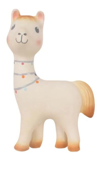 Tikiri lilith llama rubber teething toy