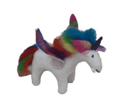 rainbow unicorn felt