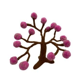 spring pom pom felt tree