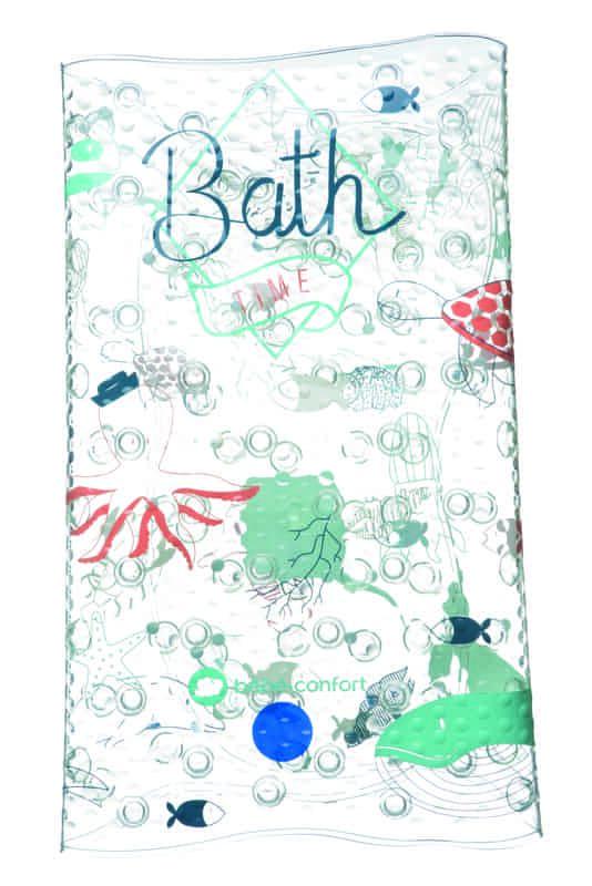 tapis de bain water world bleu