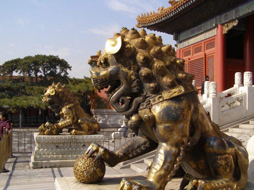Die Löwen in der Verbotenen Stadt:: Symbole für Kraft und Macht, Wächterfiguren
