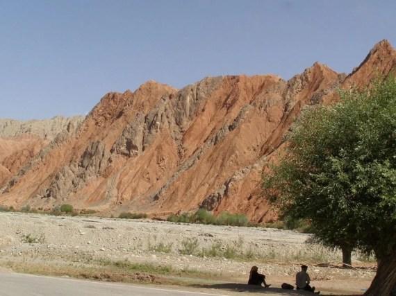 Rote Felsen bei Kashgar