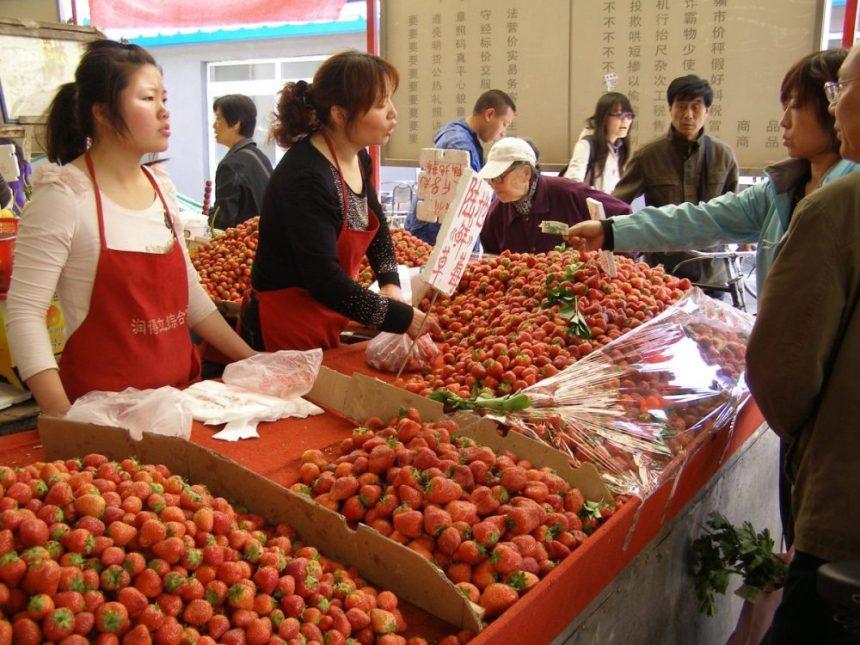 Auf dem Markt in Peking