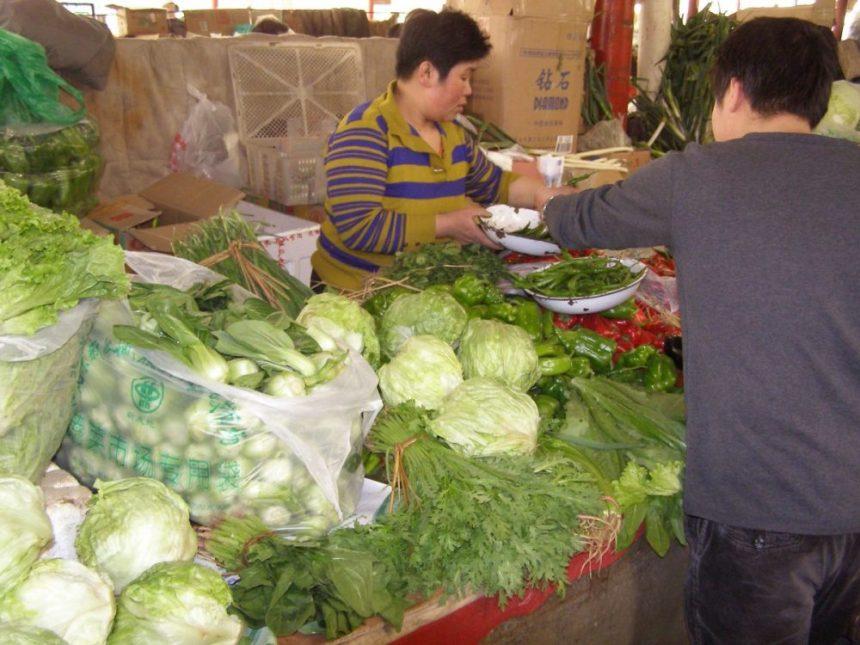 Gemüsemarkt in Peking