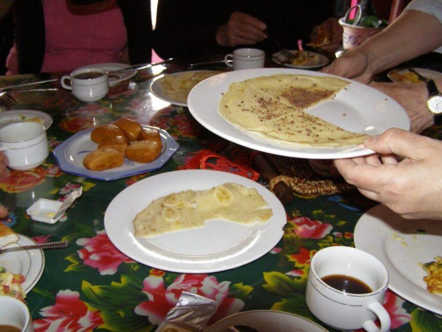 Essen in China - das Frühstück im Gasthaus