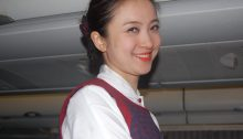 Freundliche Stewardess bei Air China