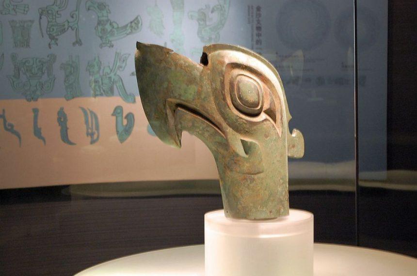 Sanxingdui Bronzevogel