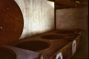Die riesigen Kochkessel im Tiantong Tempel