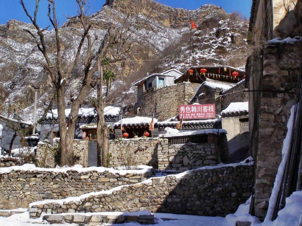 Bei Schnee ein Wintermärchen: Das Dorf Cuandixia.