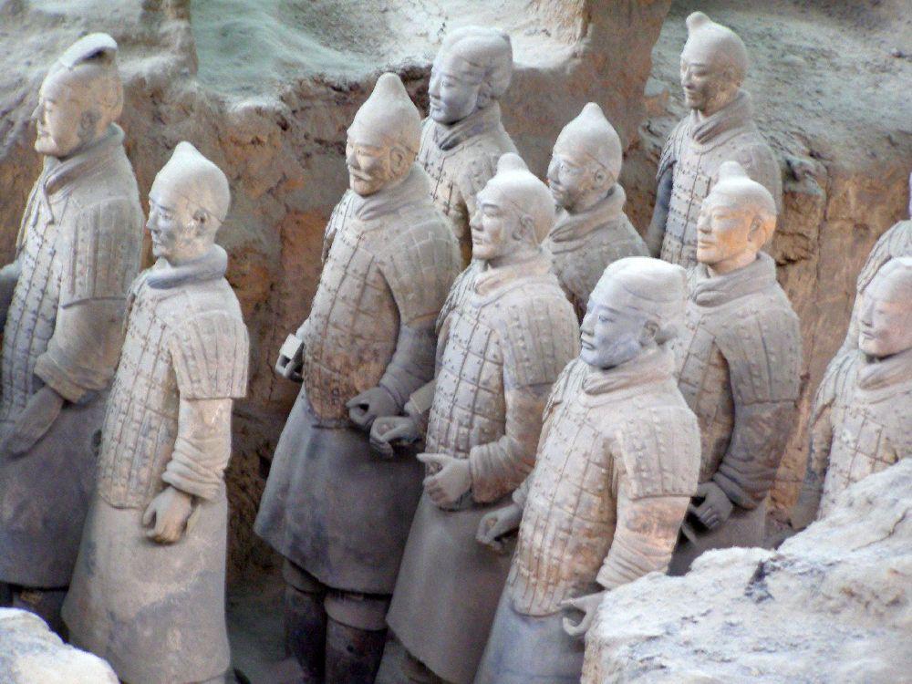 Terrakotta Armee -Krieger in Reih und Glied