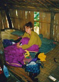In der Hütte, wo wir übernachtet haben
