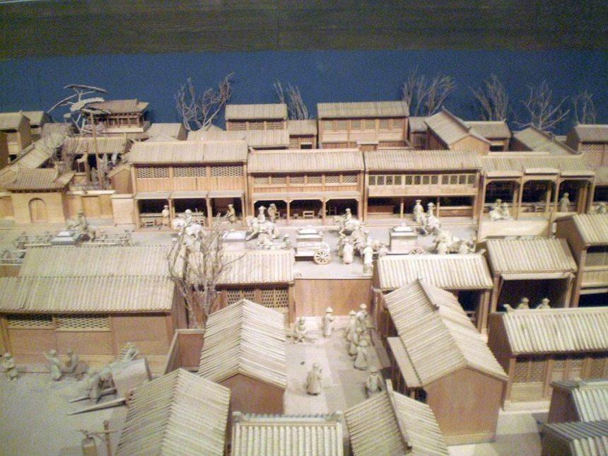 Beijing Capital Museum Modell einer alten Strasse