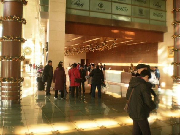 Das Hotels in China Peking-Hotel, das erste 5-Sterne-Hotel in China, erbaut 1900