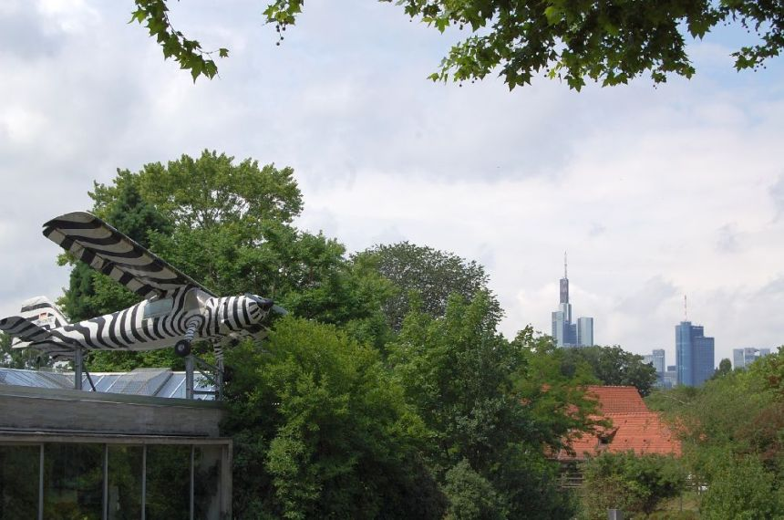 Blick über den Zoo Frankfurt