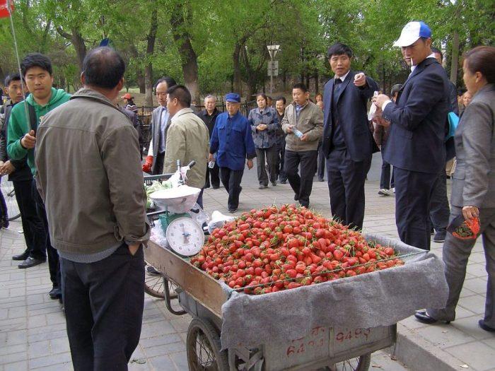 Erdbeerverkäufer