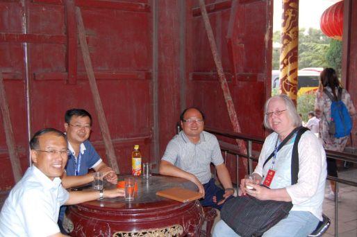 Ulrike im Yao Tempel, Shanxi