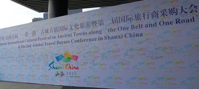 Schon auf dem Bahnhof von Taiyuan werden wir freundlich begrüßt