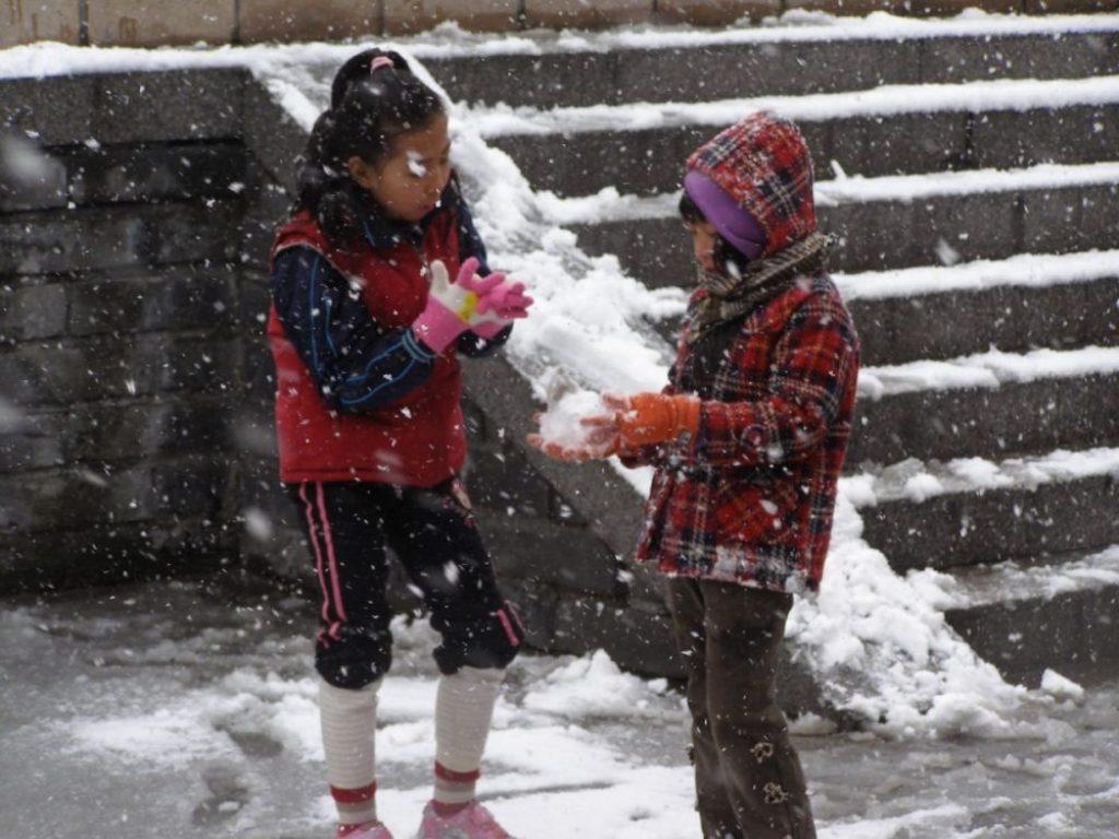 Schneefall an Li Dong