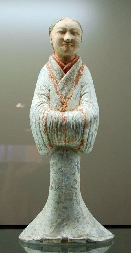 Junge Frau, Terrakotta-Figur aus dem 2. Jh. v. Chr.