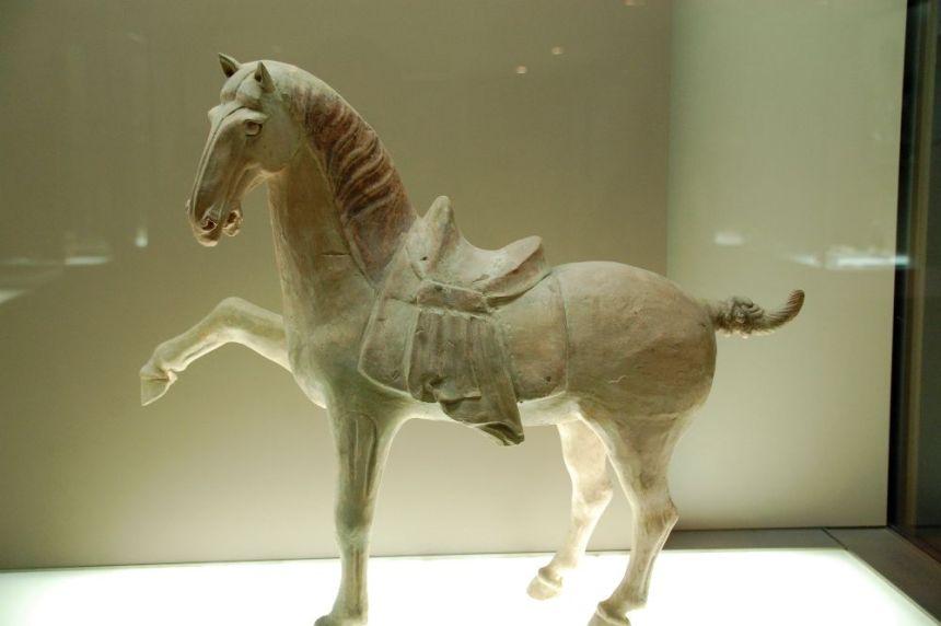 Ton-Pferd aus der Tang-Zeit (618 - 907)