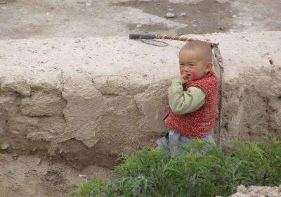 Nomadenkind in Xinjiang