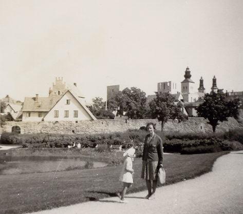 Reisen als Kind Visby 1966