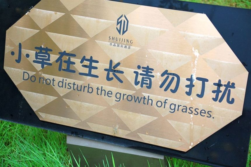 Do not disturb the growth of grasses