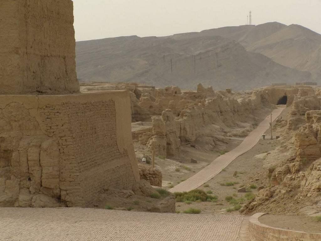Blick über die Ruinen von Jiaohe