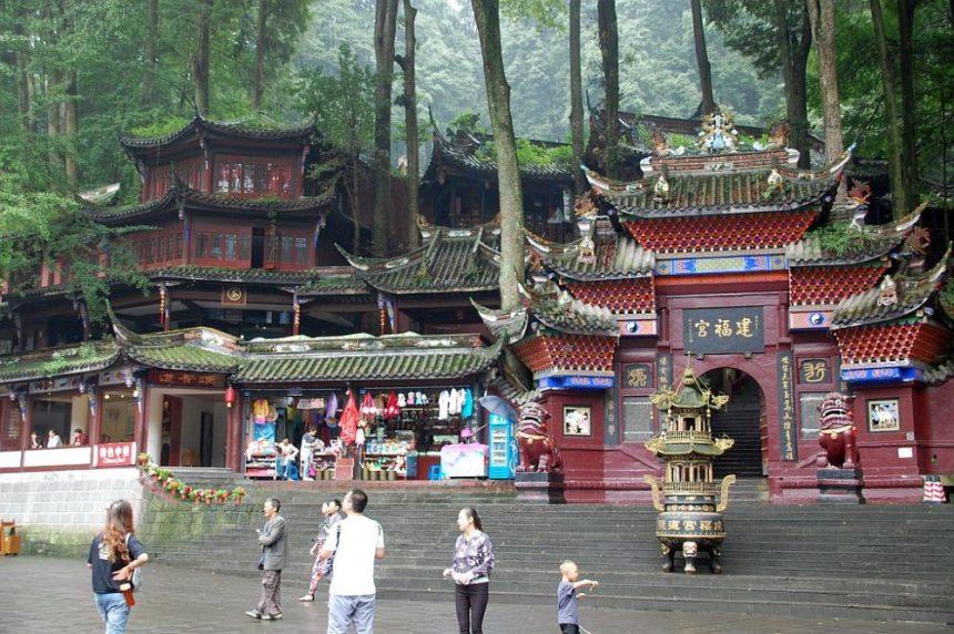 Jianfu Palast am Qingcheng Shan