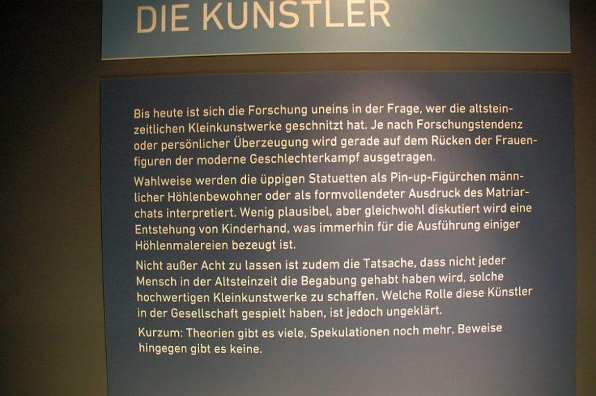 Schild im Museum