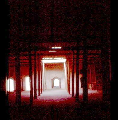 Innenraum der Moschee 1992