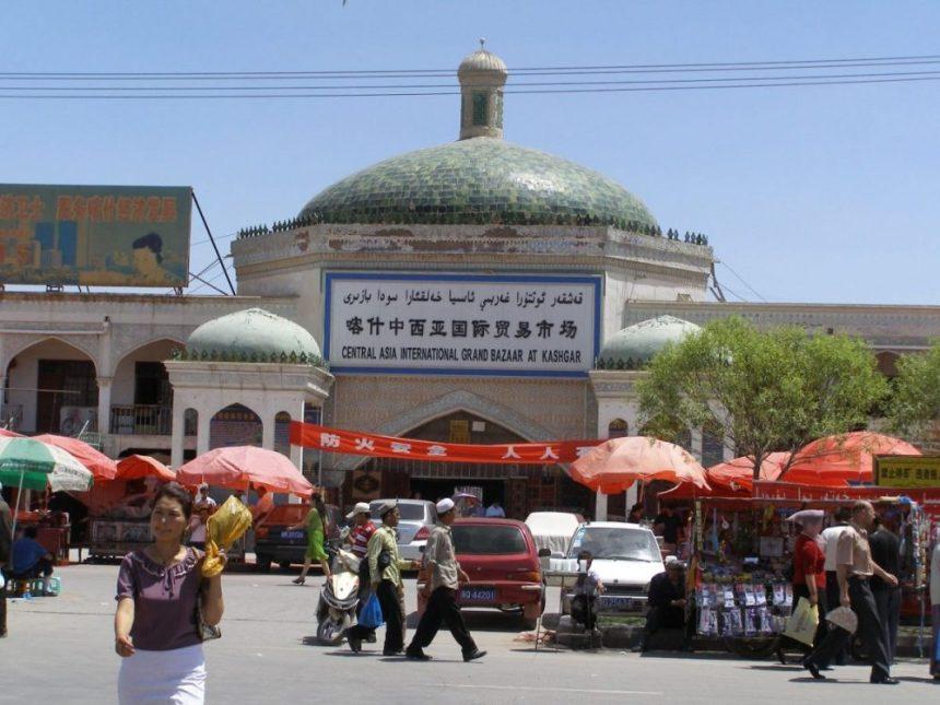 Der Eingang zum Basar in Kashgar