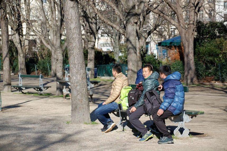 Chinesen auf der Champs-Élysées