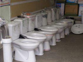 Porzellan-Toiletten