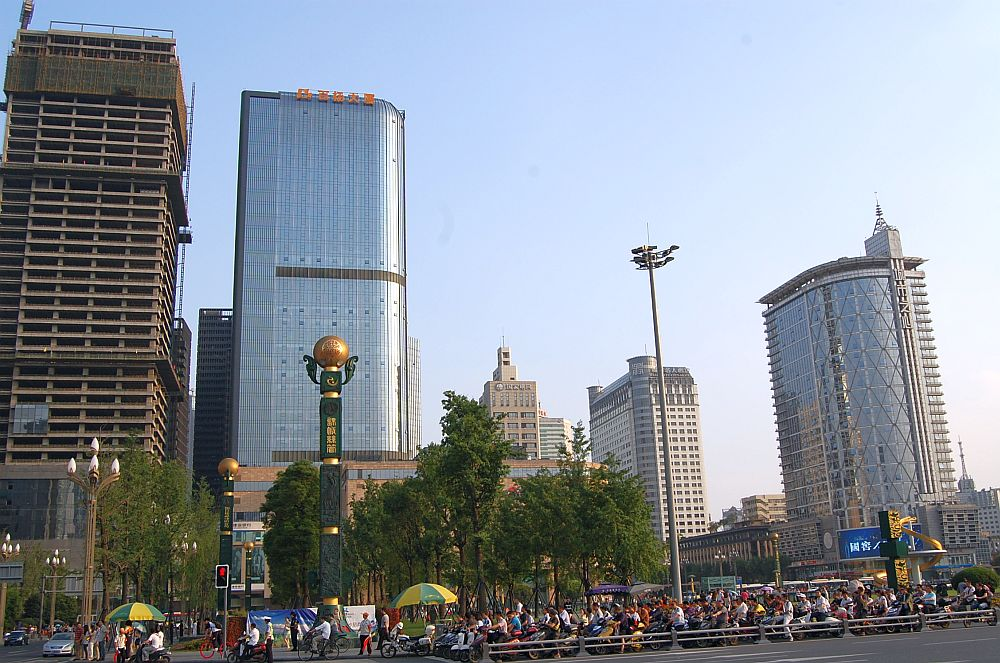 Tianfu Platz Hochhäuser