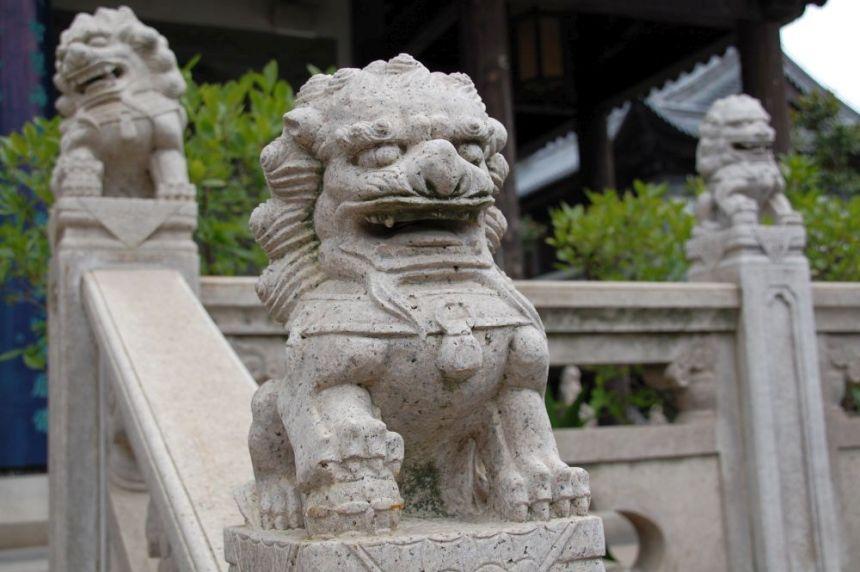 Zhenru Tempel Löwe