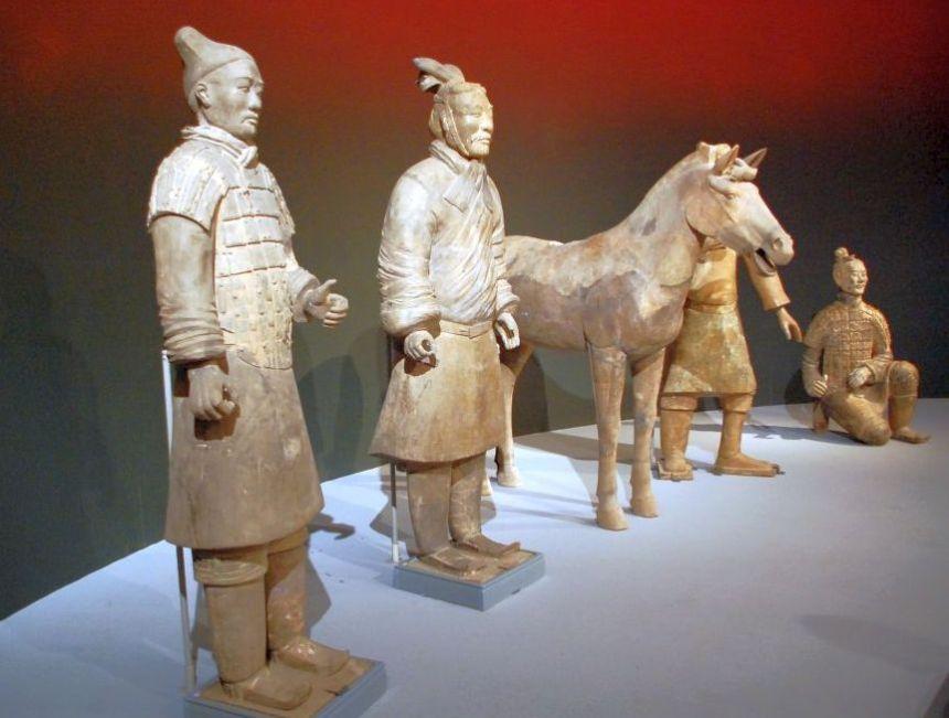 Tonkrieger im Nationalmuseum Peking