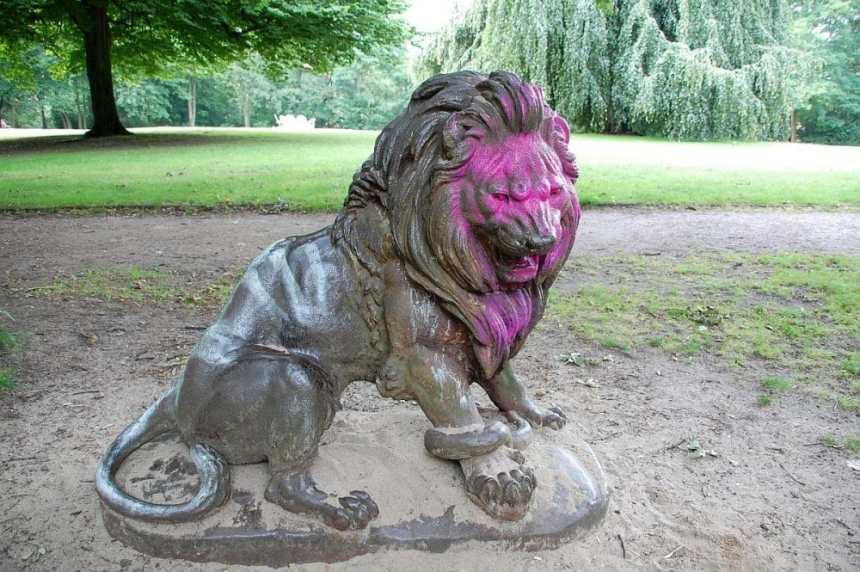 Blohms Park Löwe ohne Corona
