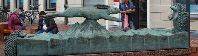 Skulptur von Fritz Fleer in Buxtehude.