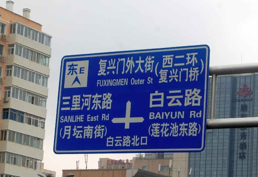 Wegweiser in Peking