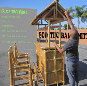Bamboo Tiki Bar - Outdoor Tiki Bar on Backyard Tiki Bar For Sale id=41628