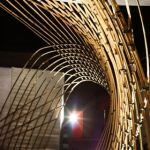 Welle der Bambusstruktur