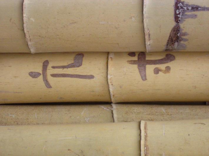 Bambusrohre mit Farmermarks CONBAM